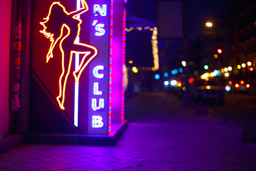 bachelor party at strip club