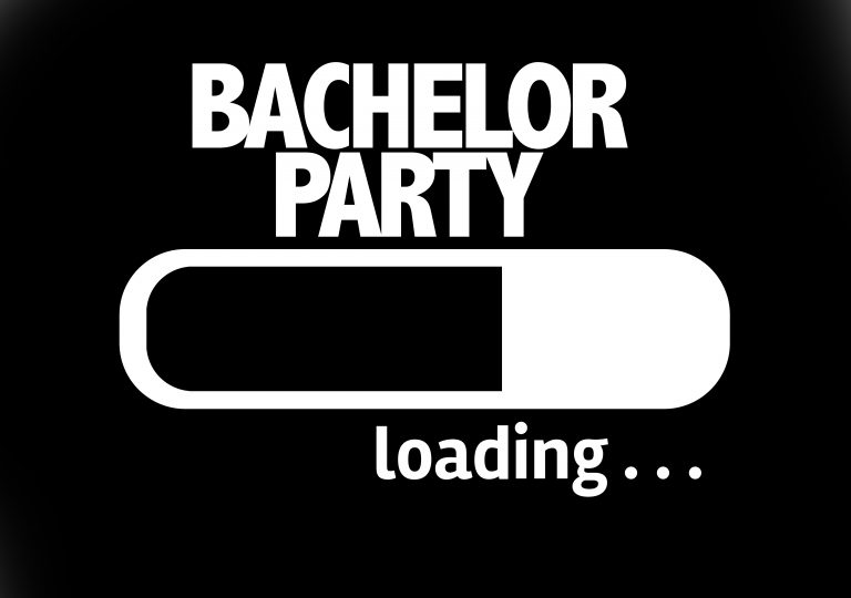 bachelor party loading at Baby Dolls